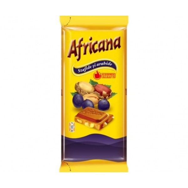 (1)AFRICANA PEANUTS RAISINS 90 GR 21/BAX