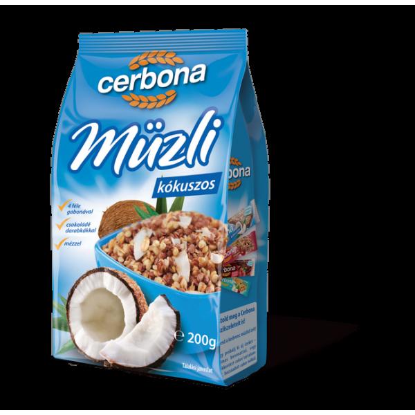 CERBONA MUESLI  COCOS 200 GR 21/BAX