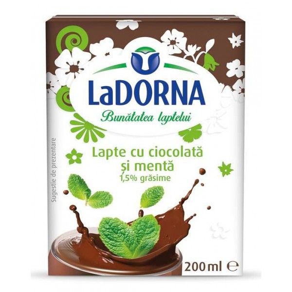 DORNA CHOCOLATE MILK WITH MINT 1.5% 200 ML