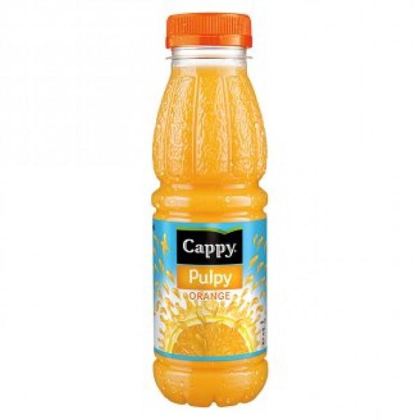 (DRINKS) CAPPY PULPY ORANGE 330 ML 12/BAX