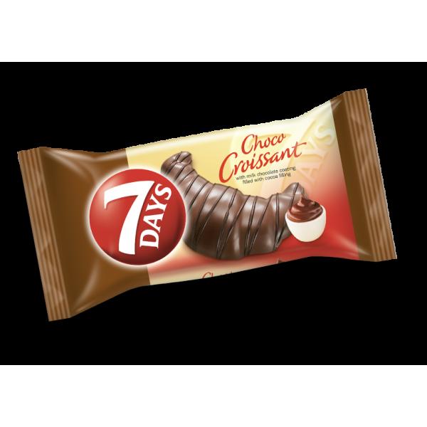 (4)7 DAYS CROISSANT CHOCO COCOA 60 GR 20/BAX
