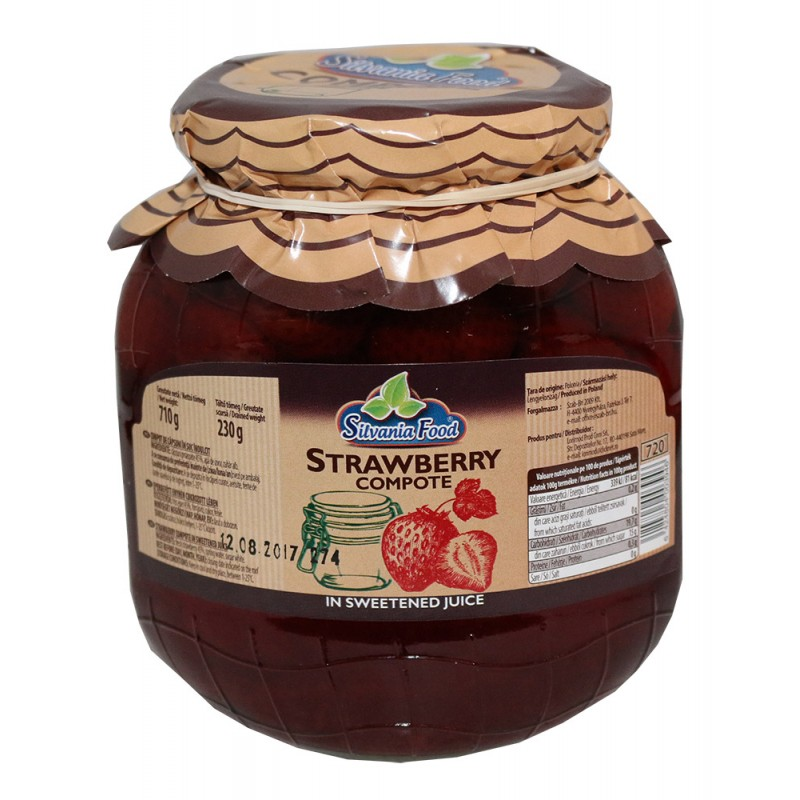 SILVANIA  FOOD STRAWBERRY COMPOTE 720 ML