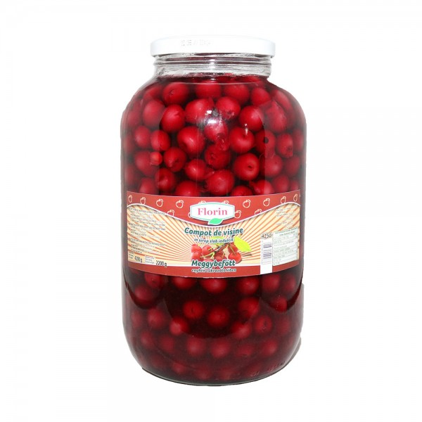 (2)FLORIN PITTED SOUR CHERRY COMPOTE 4.250