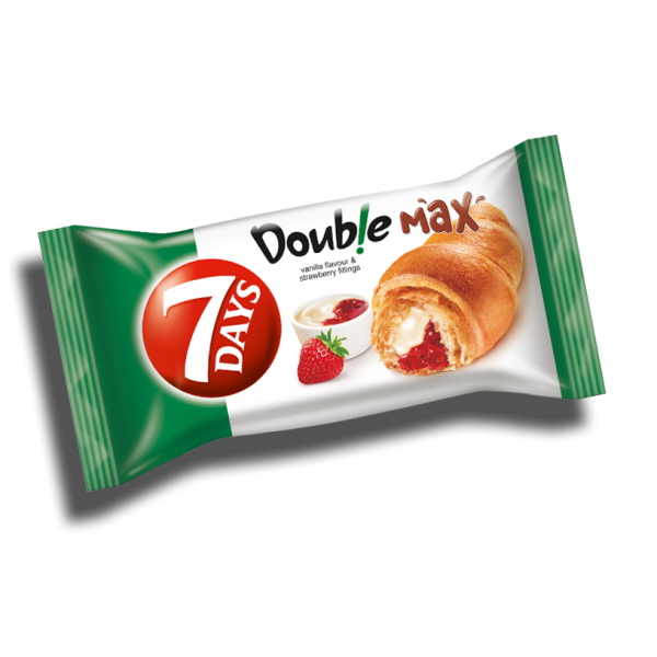 (4)7 DAYS CROISSANT DUO STRAWBERRY-VANILLA 80 GR