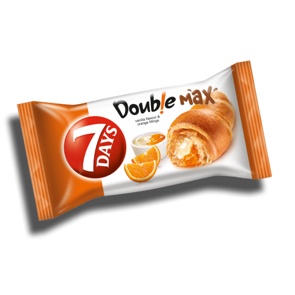 (4)7 DAYS CROISSANT DUO ORANGE-VANILLA 80 GR