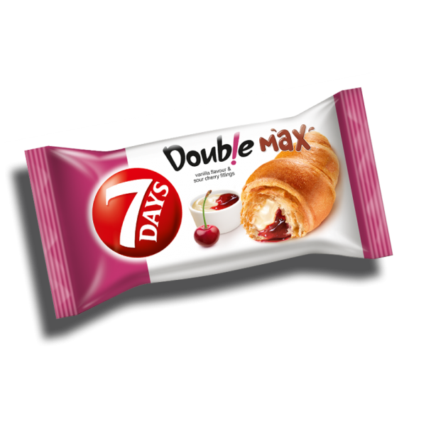 7 DAYS CROISSANT DUO SOUR CHERRY-VANILLA 80 GR