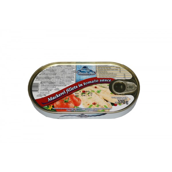 (3)SILVANIA FISH MAKERELL 170 G IN  TOMATO
