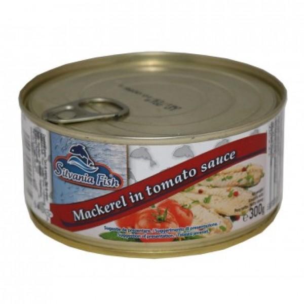 SILVANIA FISH MAKERELL 300 G TOMATO 12/BAX