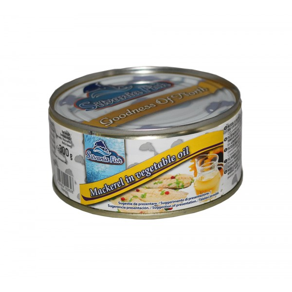 SILVANIA FISH MAKERELL IN OIL 300 G  12/BAX