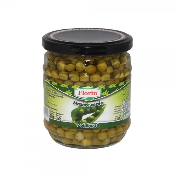 (2)FLORIN PEAS MD 430 ML 6/BAX glass