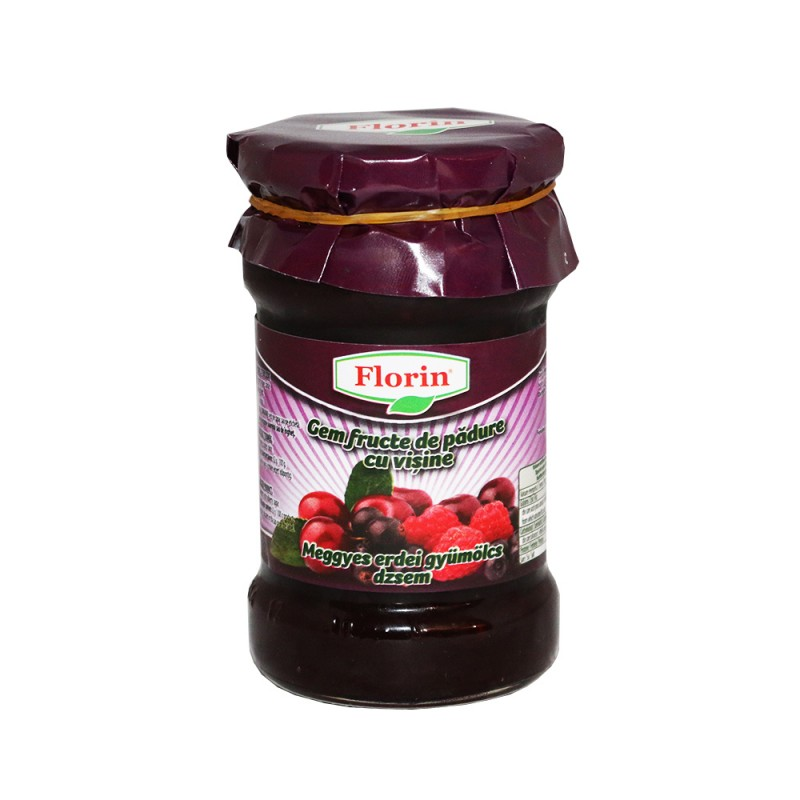 FLORIN MIXED FORESTBERRIES JAM WITH SOUR CHERY 360 GR
