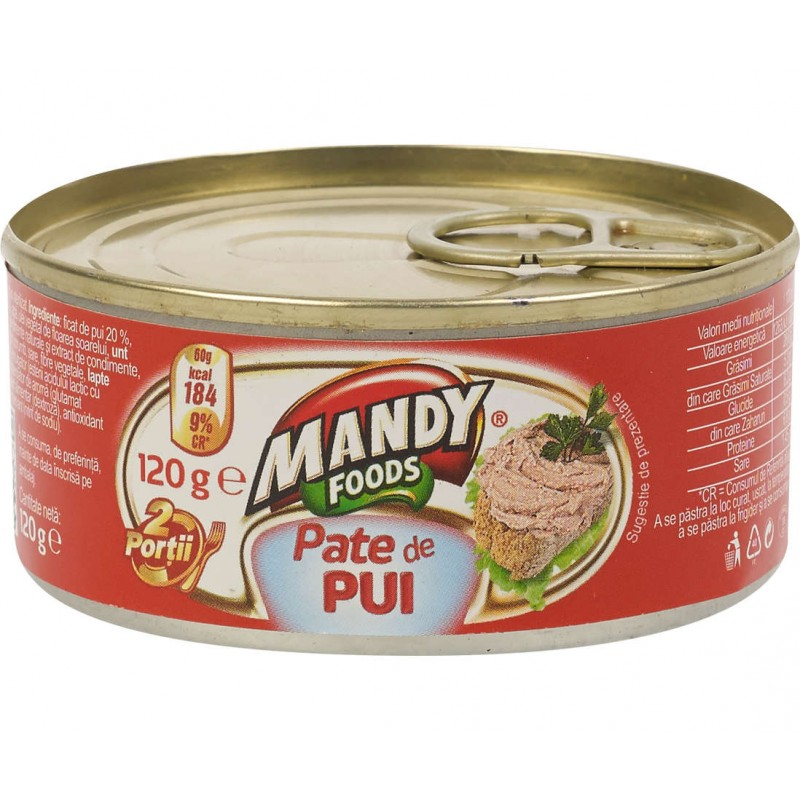 (3)MANDY CHICKEN PATE 120 GR 6/SET