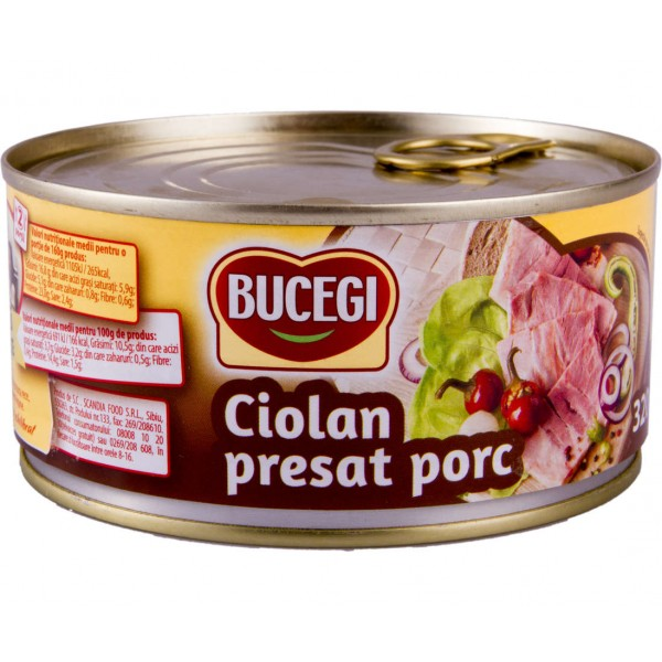 BUCEGI KUCKLES PRESSED PORK 320 GR 6/BAX