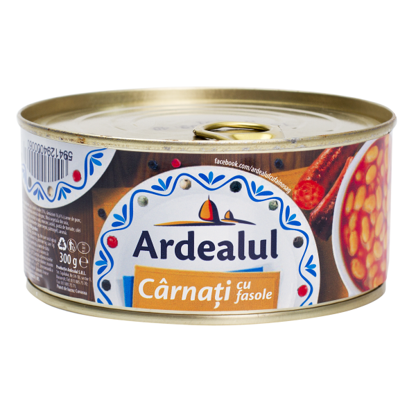 (3)ARDEALUL SAUSAGES WITH BEANS 300GR 6/BAX