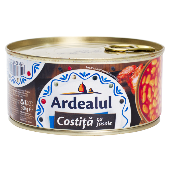 ARDEALUL BACON WITH BEANS 300GR 6/BAX