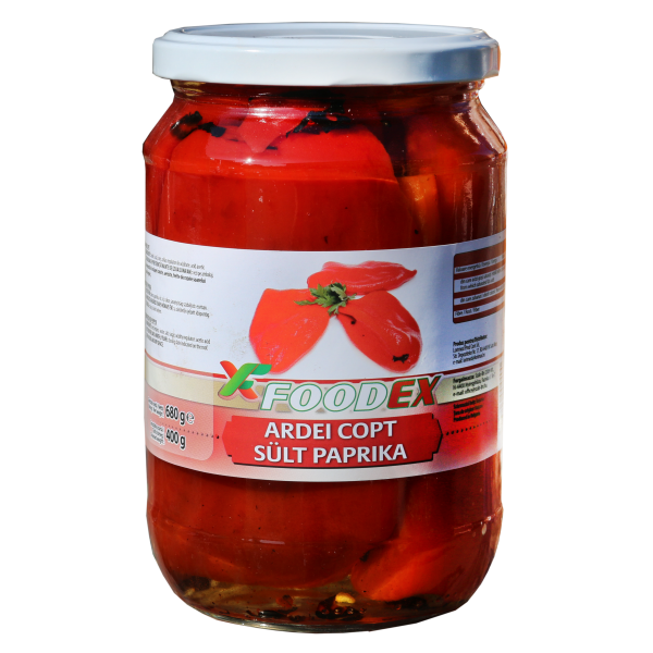 (2)FOODEX BAKED PEPPERS 720 ML  12/BAX