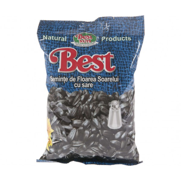 (4)BEST SUNFLOWER SEEDS WITH SALT 200 GR 12/BAX