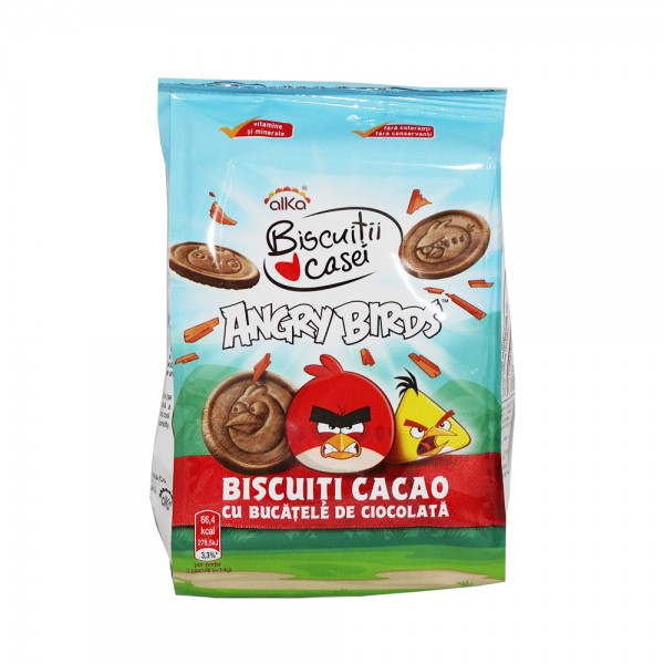 ALKA BISC ANGRY BIRDS COCOA CHIPS 120GR