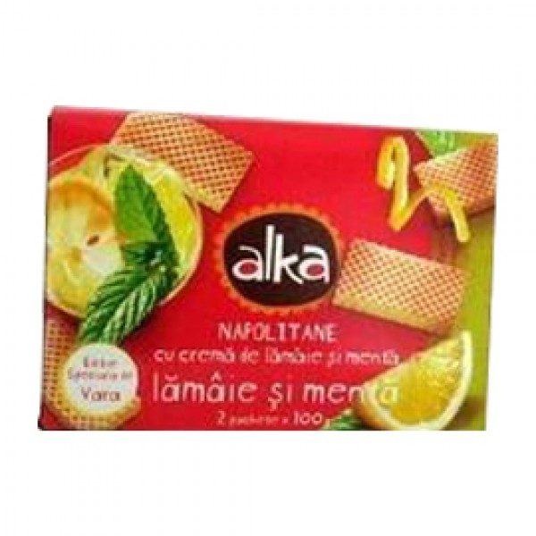 ALFERS WAFERS LEMON & MINT 75 GR 15/BAX
