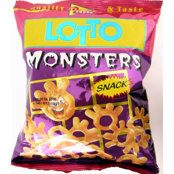 (4)LOTTO SNACK MONSTERS 35GR 40/BAX
