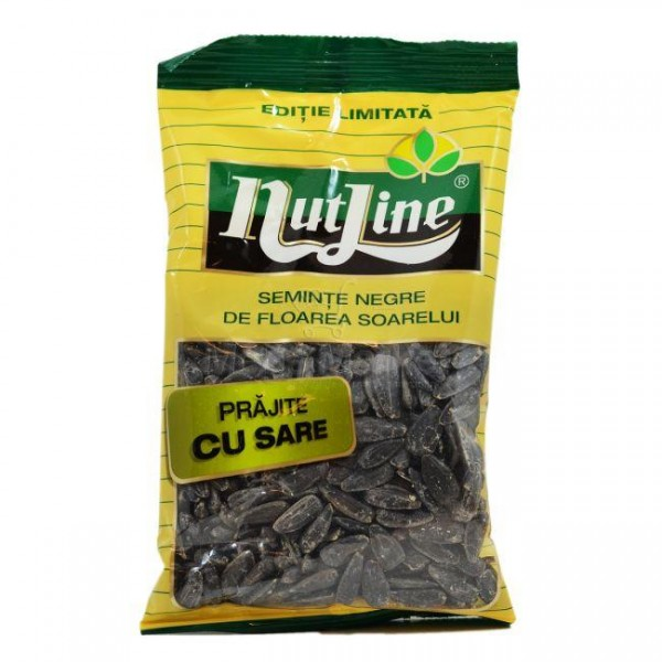 (4)NUTLINE BLACK SUN FLOWERS SEEDS SALT 40 GR 18/BAX
