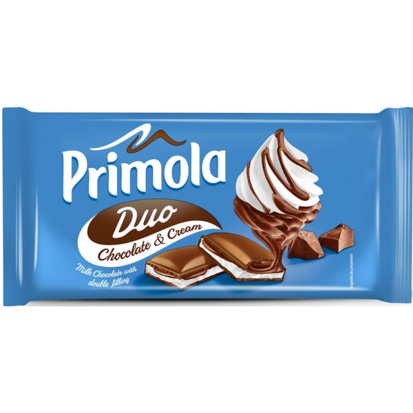 (1)PRIMOLA MILK CHOCOLATE CREAM DUO 20X89GR