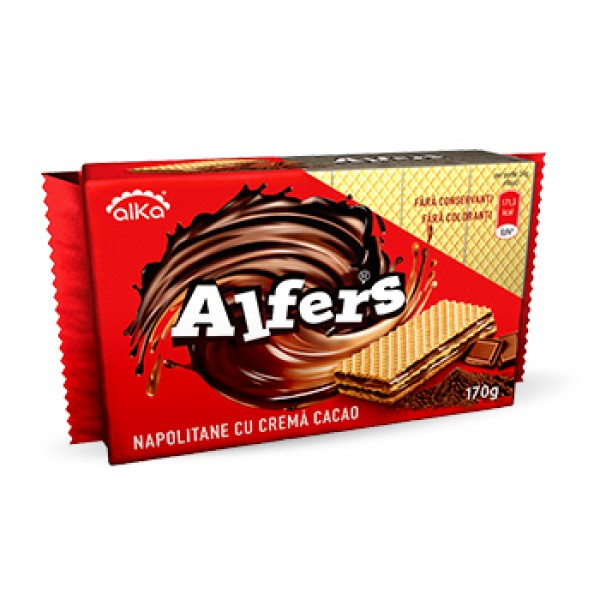 (1)ALFERS WAFERS WITH COCOA CREAM 170 GR