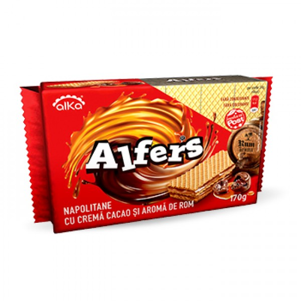 (1)ALFERS WAFFERS WITH COCOA ROM 170 GR