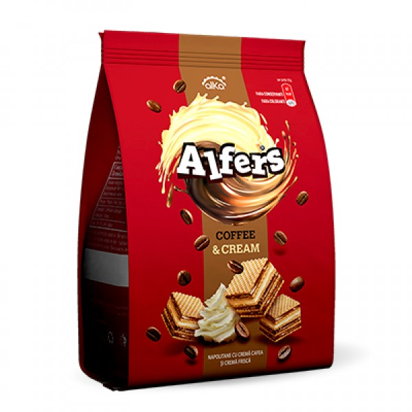 ALFERS WAFERS COFFE & CREAM 180 GR 10/BAX