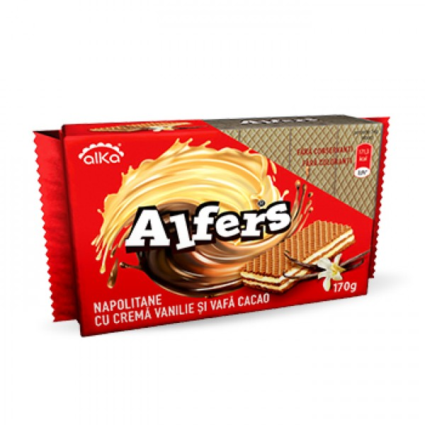 (1)ALFERS WAFERS WITH VANILLA CREAM 170 GR