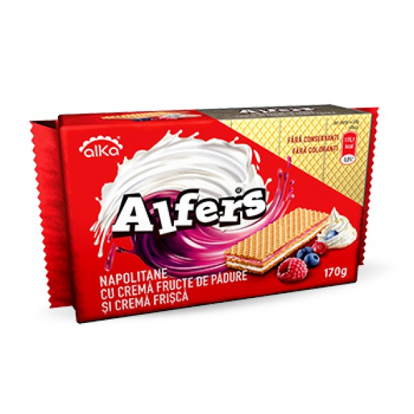(1)ALFERS WAFFERS WITH BERRIES CREAM 170 GR