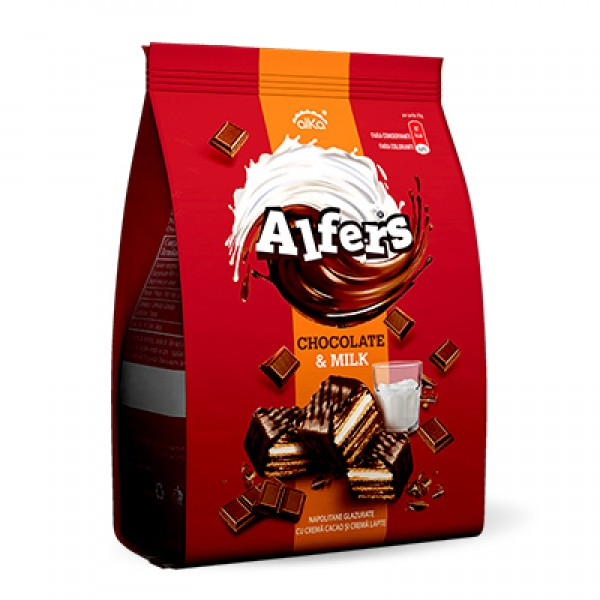 (1)ALFERS WAFFERS WITH COCOA & MILK CREAM 170 GR