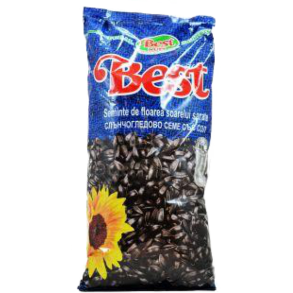 (4)BEST SUNFLOWER SEEDS WITH SALT 1 KG 8/BAX