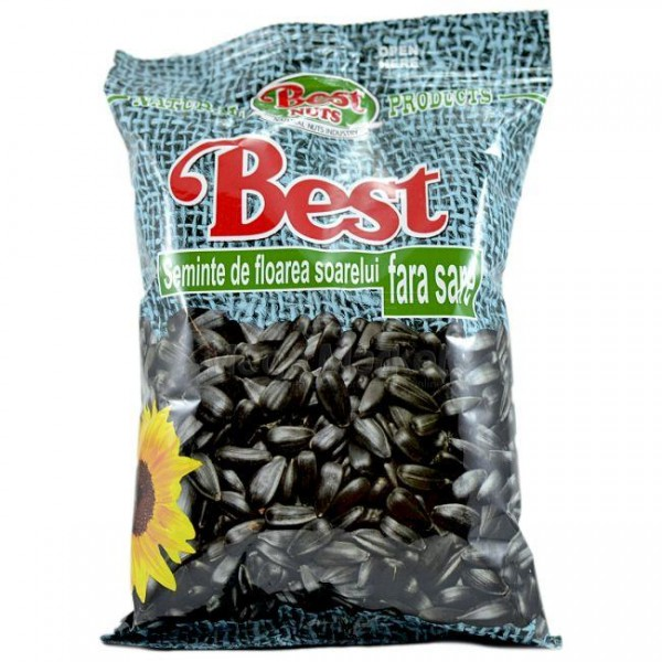 (4)BEST SUNFLOWER SEEDS WITHOUT SALT 200 GR 12/BAX