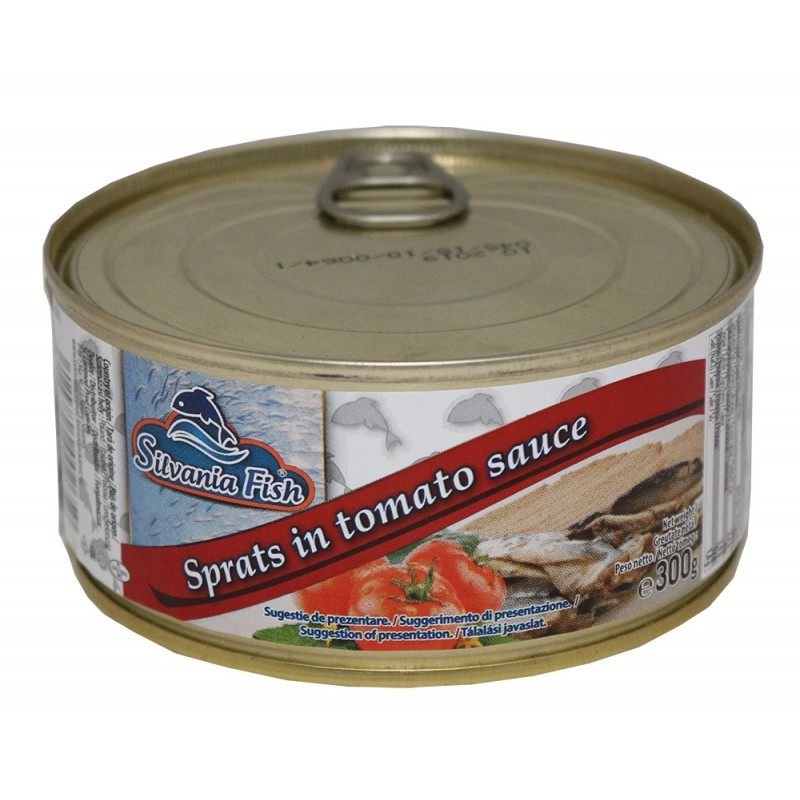 SILVANIA FISH SPRAT IN TOMATO PASTE 300 G