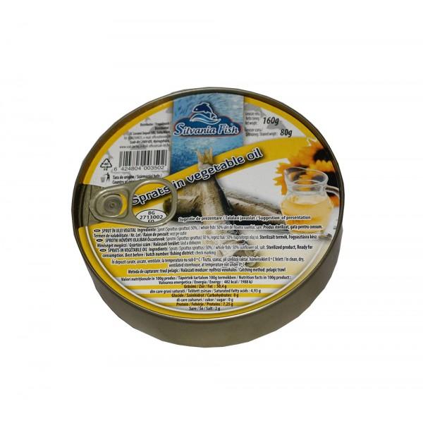 SILVANIA FISH SPRATS IN VEGETABLE OIL 160 GR