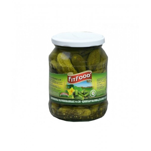 (2)FIT FOOD PICKLED CUCUMBERS 6-9 720 GR 8/BAX