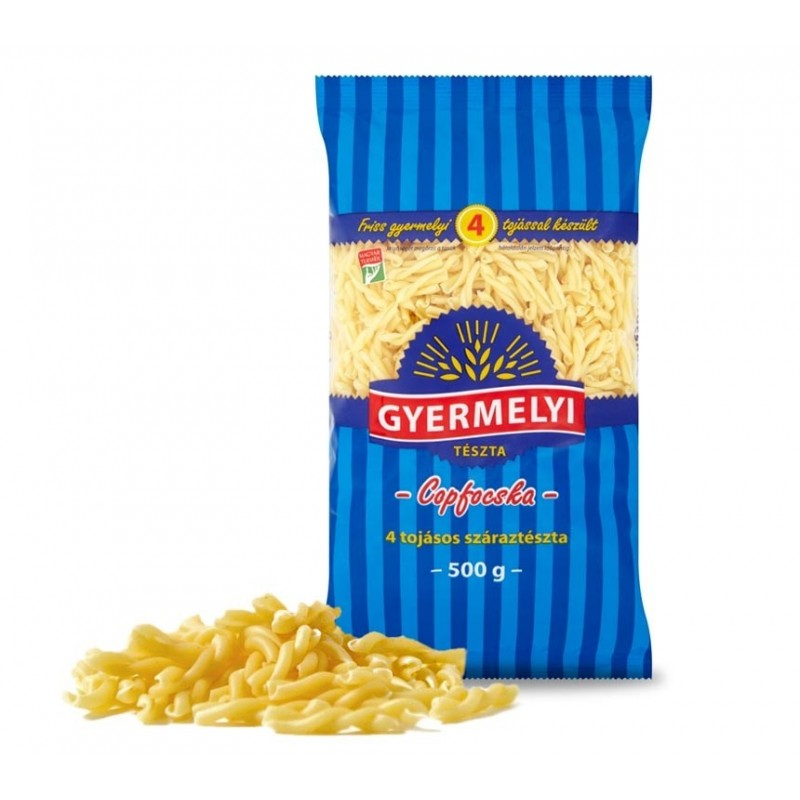(1)GY.PASTA PIGTAIL 4 EGGS 500 GR /20/BAX