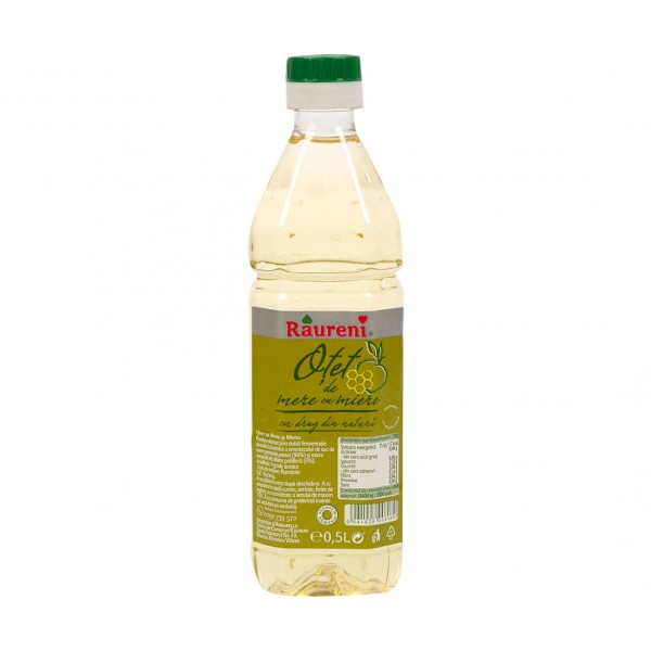 (2)RAURENI APPLE ALCOOL VINEGAR WITH HONEY 500 ML  12/BAX