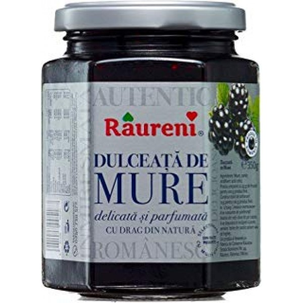 (2)RAURENI JAM BLACKBERRIES 350 GR 6/BAX