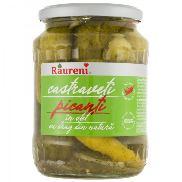 (2)RAURENI HOT CUCUMBER IN VINEGAR 680 GR  6/BAX